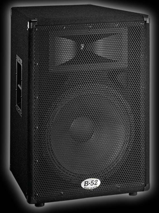 B52 MX 15 DJ speakers for live sound, smaller venues