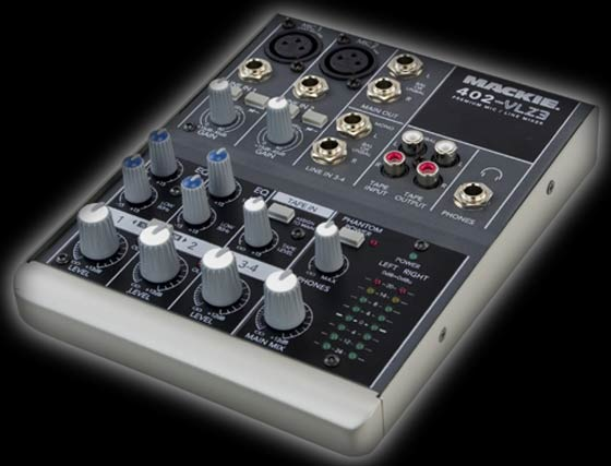 The Mackie 402-VLZ3 compact DJ mixer has XDR2 preamps offering extended dynamic range