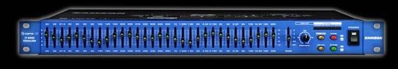 Samson S-Curve 131 single channel 31 band DJ equalizer taking a single rackspace in the DJ setup